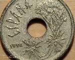Münze mit Dracaena-Motiv